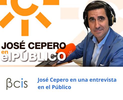 José Cepero en una entrevista en el Público