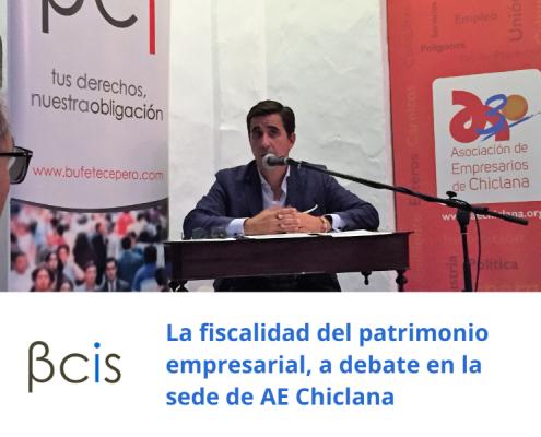 La fiscalidad del patrimonio empresarial, a debate en la sede de AE Chiclana