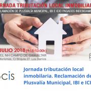 Jornada tributación localinmobiliaria. Reclamación de Plusvalía municipal, IBI e ICIO.